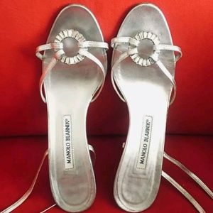 Beautiful manolo blahnik heels lace up 37.5
